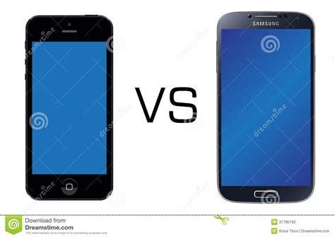 samsung galaxy s4 vs iphone 5 iphone 5 black vs samsung galaxy s4 black editorial stock