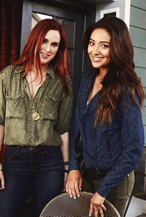 Shay Mitchell and Rumer Willis hanging on the set of # ...