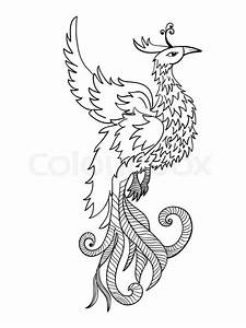 Chinese Traditional Red Phoenix  Feng Shui Symbolize Fire