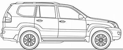 Toyota Cruiser Prado Land Blueprints Drawing Clipart