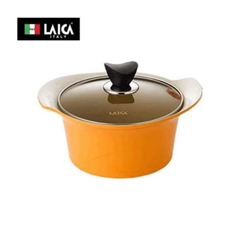 is pot in italy italy brand laica rupinus casserole pan pot 22cm ceramic coating cooking italylaica htons