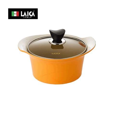 italy brand laica rupinus casserole pan pot 22cm ceramic