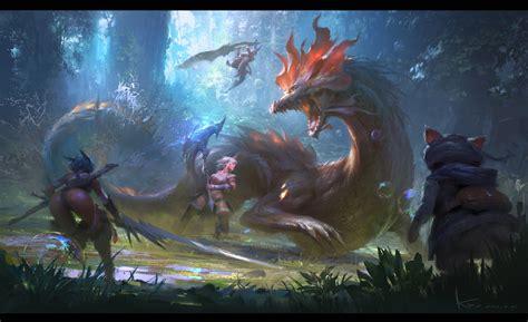 Artstation  Fan Art For Monster Hunter X, Keyi Li