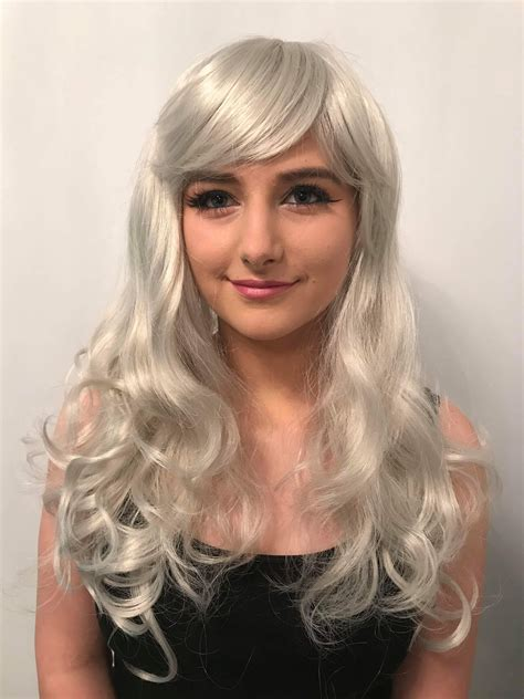 curly grey wig beautiful curly grey wigs buy  uk