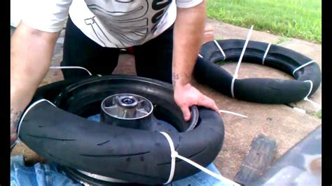 How To Mount Motorcycle Tire With Zipties
