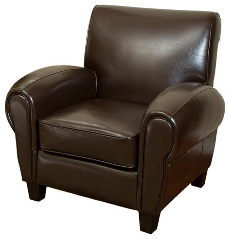 cleveland brown leather cigar club chair modern living