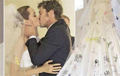One Of Angelina Jolie's Wedding Dress Pictures Shows