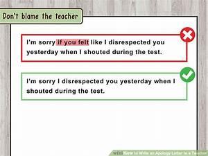 I am writing to apologize