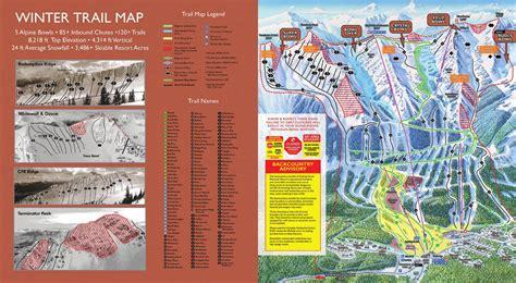 kicking horse ski resort guide location map kicking