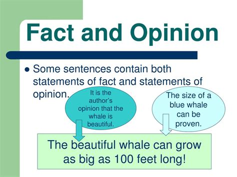 Ppt  Fact And Opinion Powerpoint Presentation Id229631