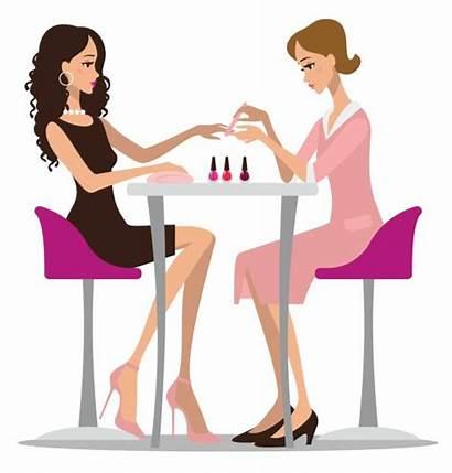 Vector Nail Salon Clip Manicure Woman Illustrations