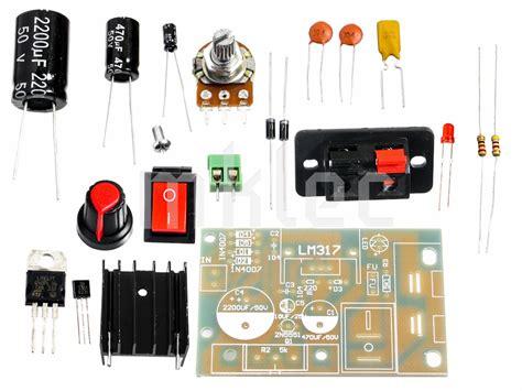 lm317 adjustable diy ac dc voltage regulator pcb kit