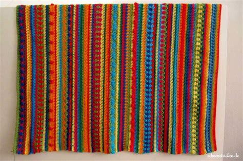 decke stricken oder häkeln schoenstricken de regenbogen babydecke