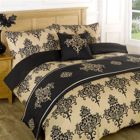 Duvet Quilt Bedding Bed In A Bag Gold Single Double King
