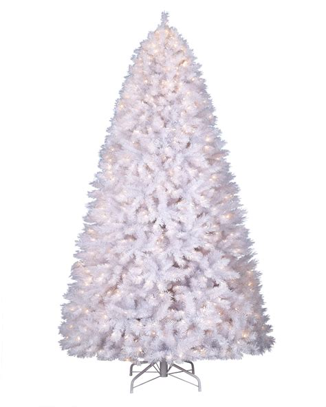 Cheap Pre Lit Pencil Christmas Trees by Winter White Artificial Christmas Tree Treetopia