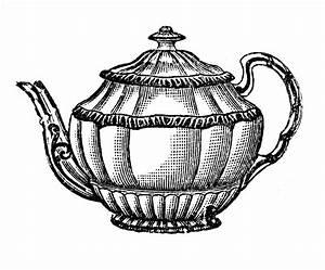 Teapot Black And White Clipart - ClipArt Best