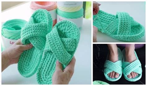 crochet criss cross spa slippers  crochet pattern video