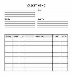 blank memo template 7 free word pdf documents download With credit note template doc