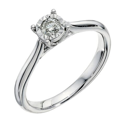 9ct White Gold Diamond Illusion Solitaire Ring  Ernest Jones. Tigers Eye Rings. Cit Her Engagement Rings. Love Vera Wang Collection Wedding Rings. White Topaz Wedding Rings. Border Wedding Rings. Sagittarius Birthstone Engagement Rings. Roman Coin Rings. Authentic Engagement Rings
