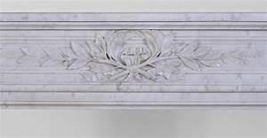 Marbre Blanc De Carrare : chemin e ancienne de style louis xvi coins arrondis en ~ Dailycaller-alerts.com Idées de Décoration