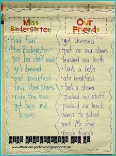 schedulin sunday   day  kindergarten