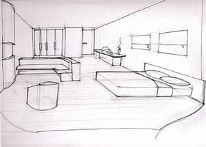 chambre dessin perspective des idees novatrices sur la With dessin de chambre en 3d