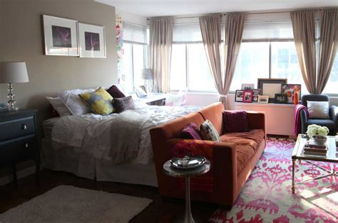 bedroom with living room design decorating studio apartment bedroom living room combo home interior exterior