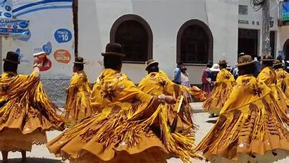 Bolivia Festival Virgen Copacabana Candelaria Dance Through