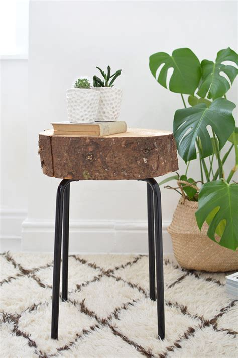 diy wood end table 9 cool diy side tables from various ikea items shelterness