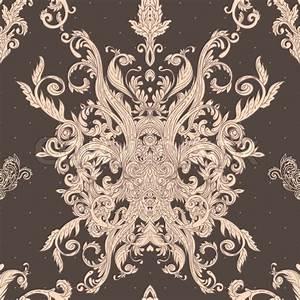 Seamless vintage baroque pattern Stock Vector Colourbox