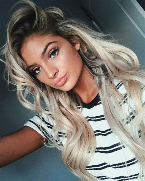 Blonde Hair Black Roots Best 20 Dark Roots Blonde Hair Ideas On Pinterest