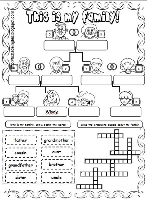 learning  fun family worksheets