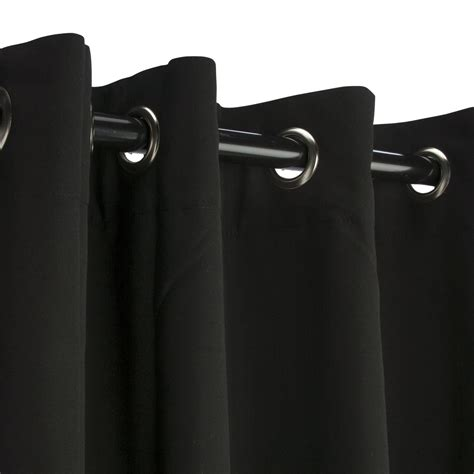 black nickel grommet sunbrella outdoor curtains