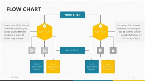 Proces Flow Diagram In Powerpoint by Flow Chart Free Powerpoint Template