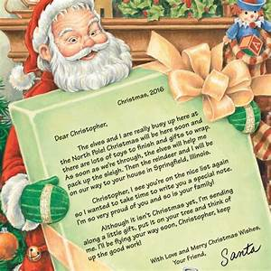 personalized letter from santa view 2 With miles kimball letter from santa