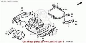 Honda Cn250 Helix 1996  T  Italy Kph Trunk Under Cover