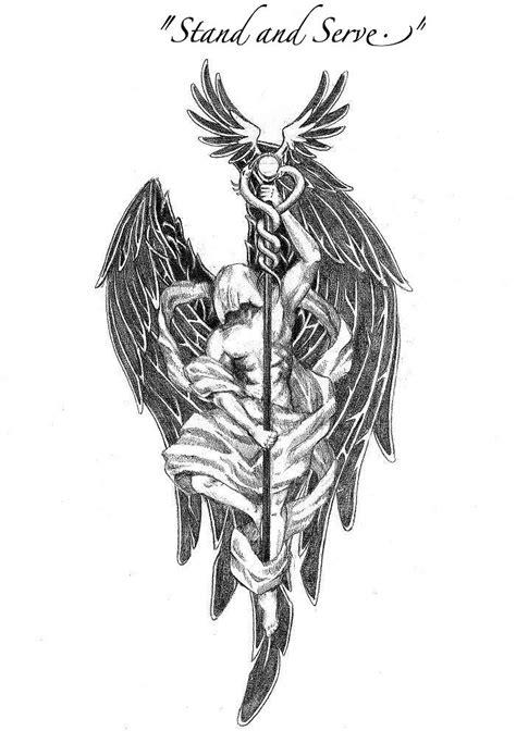 tattoo   raphael     angels  stand