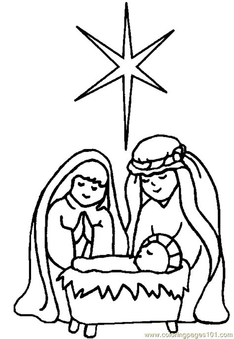 printable coloring page religious christmas coloring