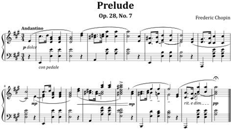 Example Modern Musical Notation Prelude