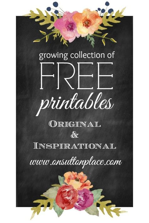 inspirational  printables instant downloads