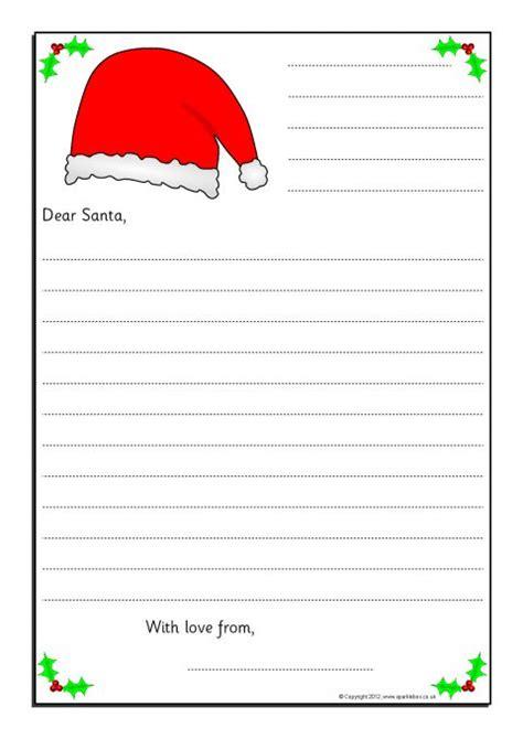 letters  santa writing frames sb sparklebox