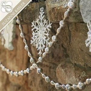 Ballard Designs Christmas Ornaments Suzanne Kasler Silver Mercury Glass Garland Mercury