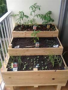 Mini Potager En Bois : carr potager balcon terrasse 1m de large diy change ~ Premium-room.com Idées de Décoration