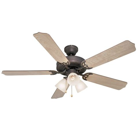 rubbed bronze 52 quot ceiling fan w light kit 5943