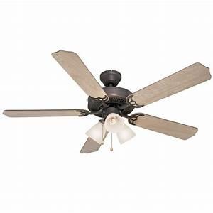 Ceiling fans light kit : Oil rubbed bronze quot ceiling fan w light kit