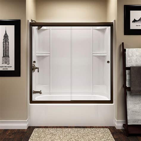 sterlingplumbing shower doors sterling finesse 59 5 8 in x 55 1 2 in semi frameless