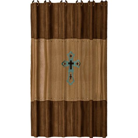 cowhide micro fiber rider shower curtain with coordinating