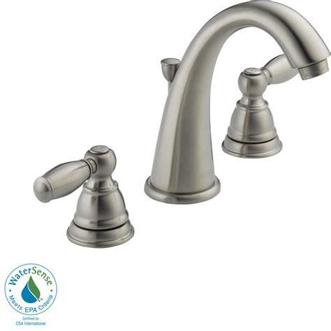 watersense kitchen faucet shop peerless apex brushed nickel 2 handle widespread watersense bathroom faucet drain included