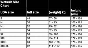Camaro Wetsuit Size Chart Wetsuit Size Charts For All Known Brands 360guide