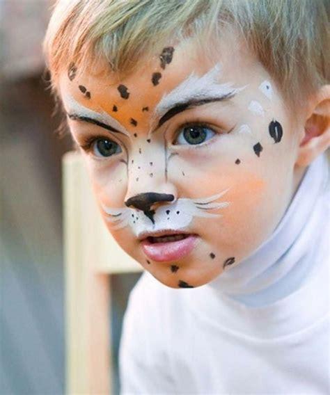 gesicht schminken kinder leopard schminken gesicht kinder fasching makeup leopard